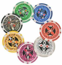 vidaXL Set de poker/blackjack cu 600 de jetoane cu laser din aluminiu (80186) - izocor