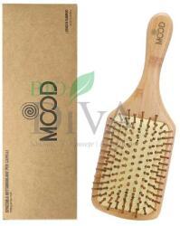 Bio Essenze Perie pentru păr rectangulară din lemn de bambus Mood Bio Essenze