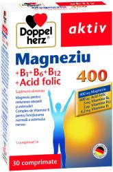 Doppelherz Magnesiu 400 mg + Vitamina B1+B6+B12 + Acid folic, 30 comprimate, Doppelherz