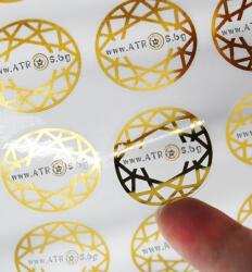 Ф25mm/10000ет. прозрачни фолийни етикети PP кръгли