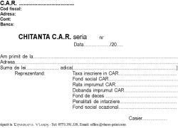Chitantier A6 CAR IFN 2 exemplare
