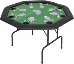 vidaXL Masă poker pliabilă în două părți, 8 jucători, octogonal, Verde (80211) - comfy