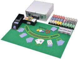 vidaXL Set de poker/blackjack cu 600 de jetoane cu laser din aluminiu (80186) - comfy