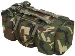 vidaXL Geantă 3-în-1 în stil army, 120 L, Camuflaj (91389) - comfy