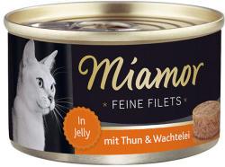 Miamor Feine Filets - Tuna & Quail Eggs Tin 100g