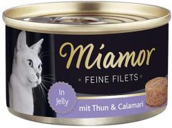 Miamor Feine Filets - Tuna & Calamari Tin 100g