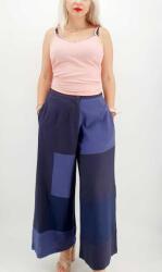 Ie Traditionala Pantaloni Salvari de vara bleumarin