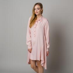 Willsoor Cămașă de noapte asimetrică femei roz 12900