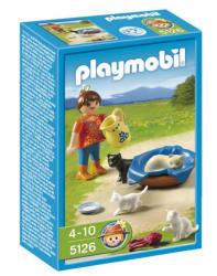 Playmobil Kislány macskacsaláddal (5126)