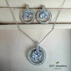 SXY Jewellery Дамски сребърен комплект с кристали   ss5104