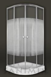Sanimix Vichy 90x90x200 cm íves (22.1502-90)