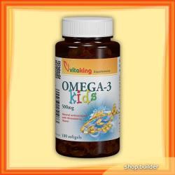 Vitaking Omega-3 Kids Halolaj Gélkapszula - 100db