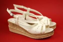 Rovi Design Oferta marimea 40 Sandale dama din piele naturala, cu platforme de 5cm - LS36BEJINALT - ellegant