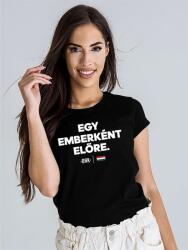 Dorko_Hungary EGY EMBERKÉNT ELŐRE T-SHIRT WOMEN negru XL