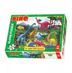 Trefl Dino szőnyegpuzzle 104 db-os (28028)