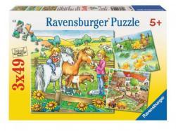 Ravensburger Farmállatok 3x49 db-os (90929)