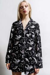 KILLSTAR Cămașă pentru femei (pijama) KILLSTAR - Moonbow Sleep - Negru - KSRA004189