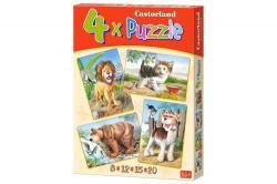 Castorland Állatok 4 az 1-ben puzzle (B-04287)