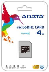ADATA MicroSDHC 4GB Class 4 AUSDH4GCL4-R