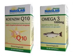 Nutrilab Koenzim Q10+Omega 3 kapszula - 60+30 db