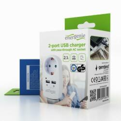Gembird EnerGenie 1 Plug + 2 USB (SPG1-U)