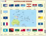 Ausztrália és Óceánia térkép zászló KL5