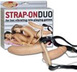 Strap-On Duo felcsatolható kétvégű rezgőpénisz