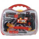 Dromader Set scule cu masina de gaurit si cheie tubulara Set bricolaj copii