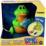 Tomy Felhúzós krokodil mama és baba bébijáték