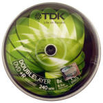 TDK DVD+R 8.5GB 8x - Henger 10db Dual layer