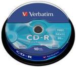 Verbatim CD-R 700mb 52x - Suport rotund 10buc. ExtraProtection 43437