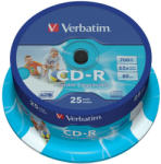 Verbatim CD-R 700MB 52x - Suport rotund CD 25buc. Wide Printable (43439)
