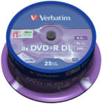 Verbatim DVD+R 8.5GB 8x - Suport rotund DVD 25buc. Dual layer (43757)