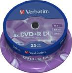 Verbatim DVD+R 8.5Gb 8X - Шпиндел 25бр. Dual layer