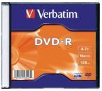 Verbatim DVD-R 4.7GB 16x - Vékony tok AZO