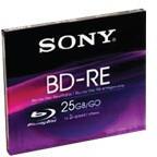 Sony Blu-Ray BD-RE 25GB 2x - Vékony tok (BNE25SL)