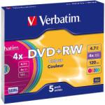 Verbatim Dvd+rw 4.7gb 4x Carcasa Slim 5buc (43297)