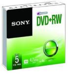 Sony DVD+RW 4.7GB 4X - Vékony tok 5db (5DPW47SS)