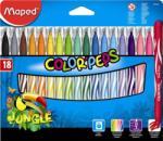 Maped Color'Peps Jungle filctoll készlet (18db) 2.8mm, ruhából könnyen kimosható - 18 különböző szín (IMA845421)