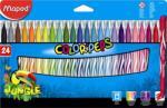 Maped Color'Peps Jungle filctoll készlet (24db) 2.8mm, ruhából könnyen kimosható - 24 különböző szín (IMA845422)