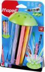 Maped Color'Peps Jungle filctoll készlet (12db) 2.8mm, elhagyhatatlan kupakos - 12 különböző szín (IMA845445)