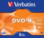 Verbatim DVD-R 4.7GB 16x 5buc. (43519)