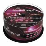 MediaRange CD-R 700Mb 52X 50 бр. PRINT