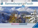 Ravensburger Panoráma Puzzle - Neuschwanstein-i kastély télen 2000 db-os (16691)