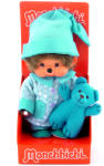 Sekiguchi Monchhichi fiú kék pizsamában macival 20 cm