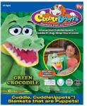 Jay@Play Szundibarát bábozós takaróállatkák - Zöld krokodil