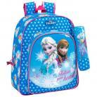 SAFTA Ghiozdan scoala cu penar Frozen Follow your heart