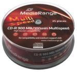 MediaRange CD-R 900MB 48X - Henger 25 db