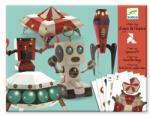 Djeco Design by űrhajók Háromdimenziós figurák papírból