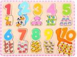Bigjigs Toys számok és színek puzzle - Találd meg az összeillőt!